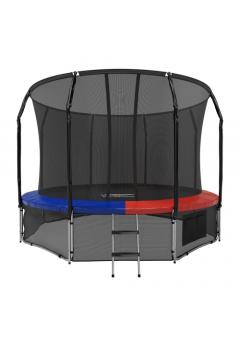 Батут с защитной сеткой Space Blue/Red 12FT