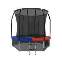 Батут с защитной сеткой Space Blue/Red 8FT