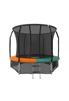 Батут с защитной сеткой Space Green/Orange 10FT