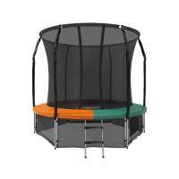 Батут с защитной сеткой Space Green/Orange 8FT