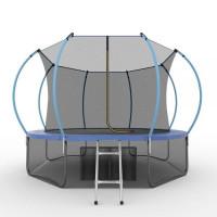 Батут Evo jump Internal 12 ft , (синий) + нижняя сеть
