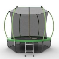 EVO JUMP Internal 8ft (Green) + Lower net. Батут с внутренней сеткой и лестницей, диаметр 8ft (зеленый) + нижняя сеть