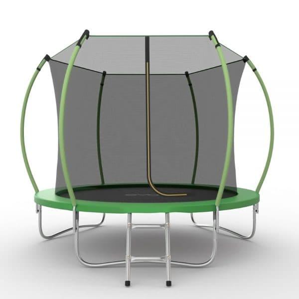 EVO JUMP Internal 8ft (Green) Батут с внутренней сеткой и лестницей, диаметр 8ft (зеленый)