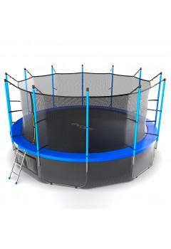 Батут Evo jump Internal 16 ft , (синий) + нижняя сеть