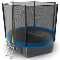 Батут Evo jump External 10 ft , (синий) + нижняя сеть