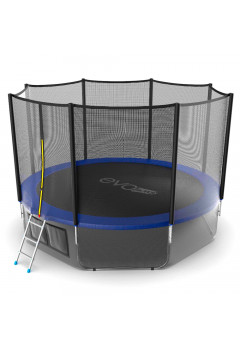 Батут Evo jump External 12 ft, диаметр 366см + нижняя сеть