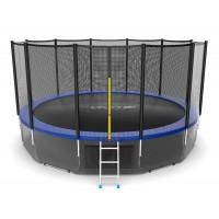 Батут Evo jump External 16 ft , (синий) + нижняя сеть