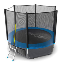 Батут Evo jump External 8 ft , (синий) + нижняя сеть