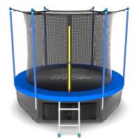 Батут Evo jump Internal 8 ft (Sky), (синий) + нижняя сеть