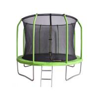 Зеленый батут Bondy Sport 12 ft с сеткой и лестницей