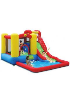 Водный батут с бассейном Happy Hop Скольжение 9271