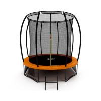 Батут Триумф Норд Премиальный 244 см двухцветный серый/оранжевый